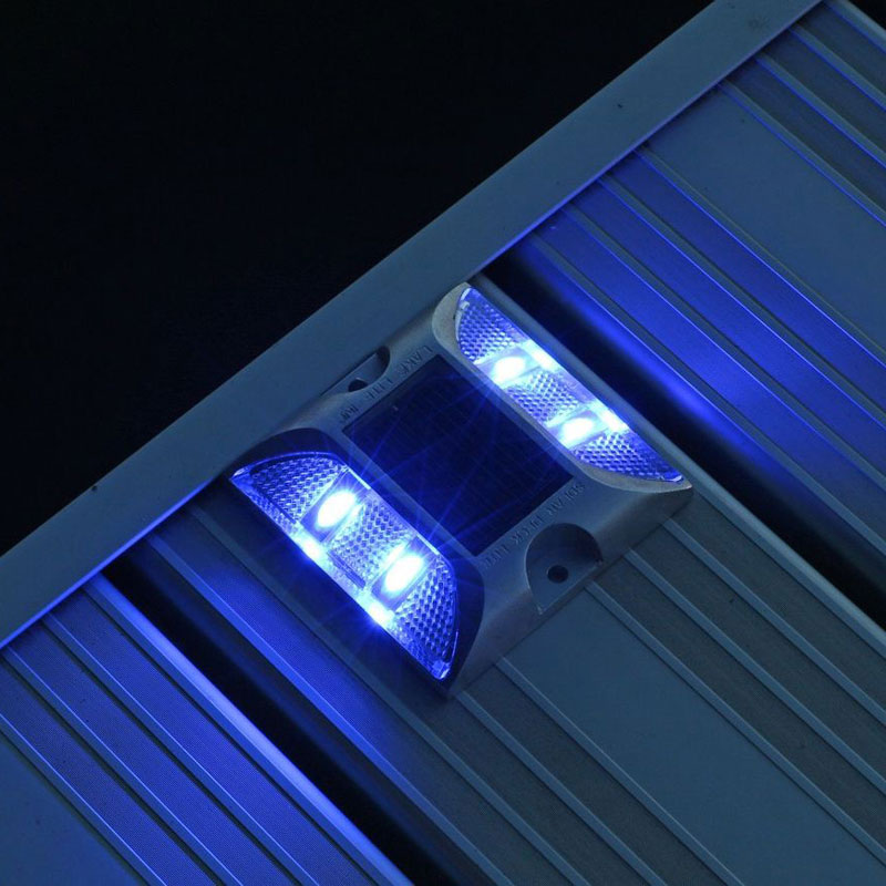 Aluminum marine grade dock deck lites blue for solar products aluminum marine grade dock deck lights blue lake lite ll sdl deck aloadofball Image collections