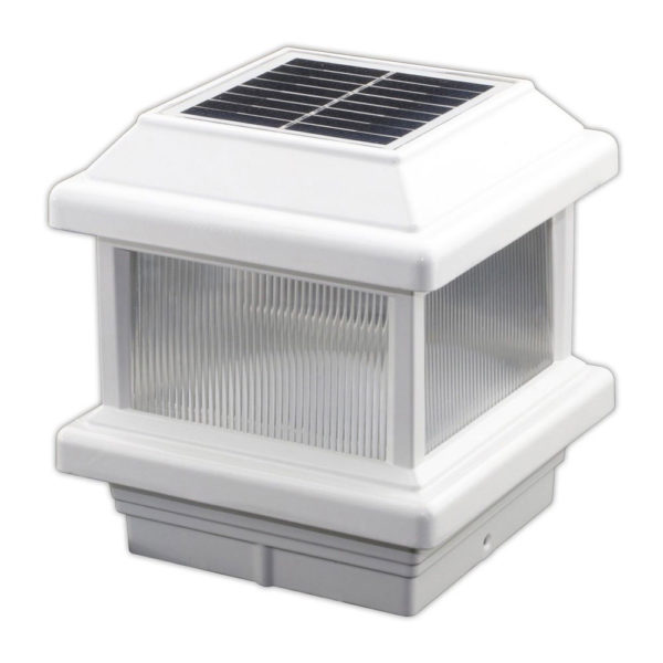 Solar Post Cap Light with Lens 4x4 Lake Lite UBT-AL-400-3