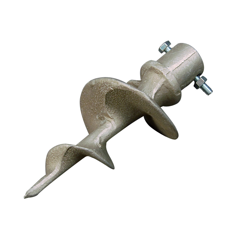 "Standard Dock Auger, 7"" long  Cast aluminum OD 1.55"