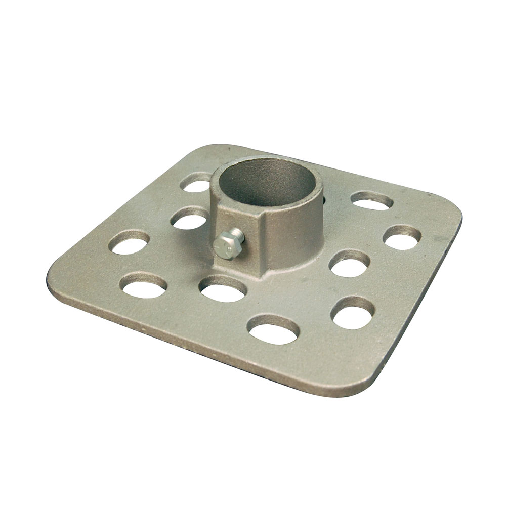 "7-1/2"" Square Bottom Dock Plate for Normal to Mud Bottoms"