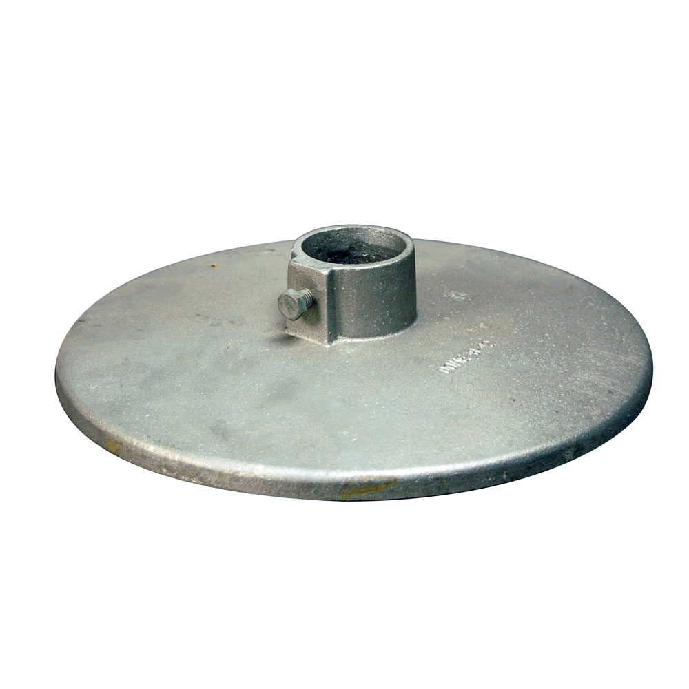 "12"" Round Bottom Dock Post Plate for Mud Bottoms"