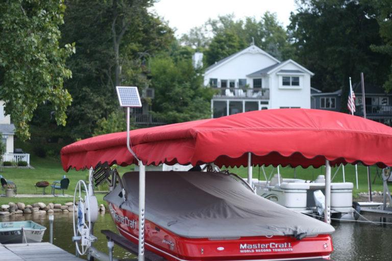Boat Lift Solar Panel Charging Kit - 15 watt / 12 volt Lake Lite LL-SPCK-12w12v