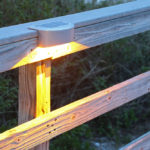 Solar Rail Light Amber Light Lake Lite LL-SRL-7-S-A