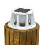 Solar Piling Light White Lake Lite LL-SPL-8-W-WBA