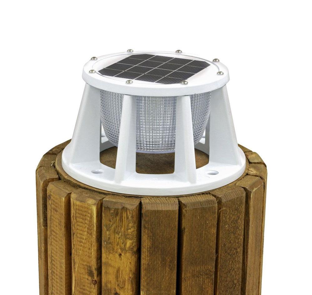 Solar Piling Light White Lake Lite LL-SPL-8-W-WBA