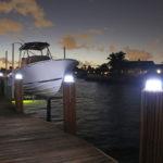 Solar Piling Light White Lake Lite LL-SPL-8-B-WBA