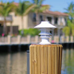 Solar Pagoda Light for that Florida Feel Lake Lite LL-SPL-PAG-W-A