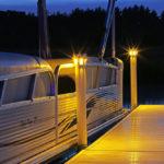 Solar Underglow Dock Light for Brock Docks Lake Lite LL-SDL-UG-WH-A