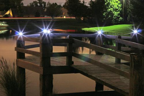 Steady or Flashing Solar Marine Light Lake Lite LL-SML-BLUE
