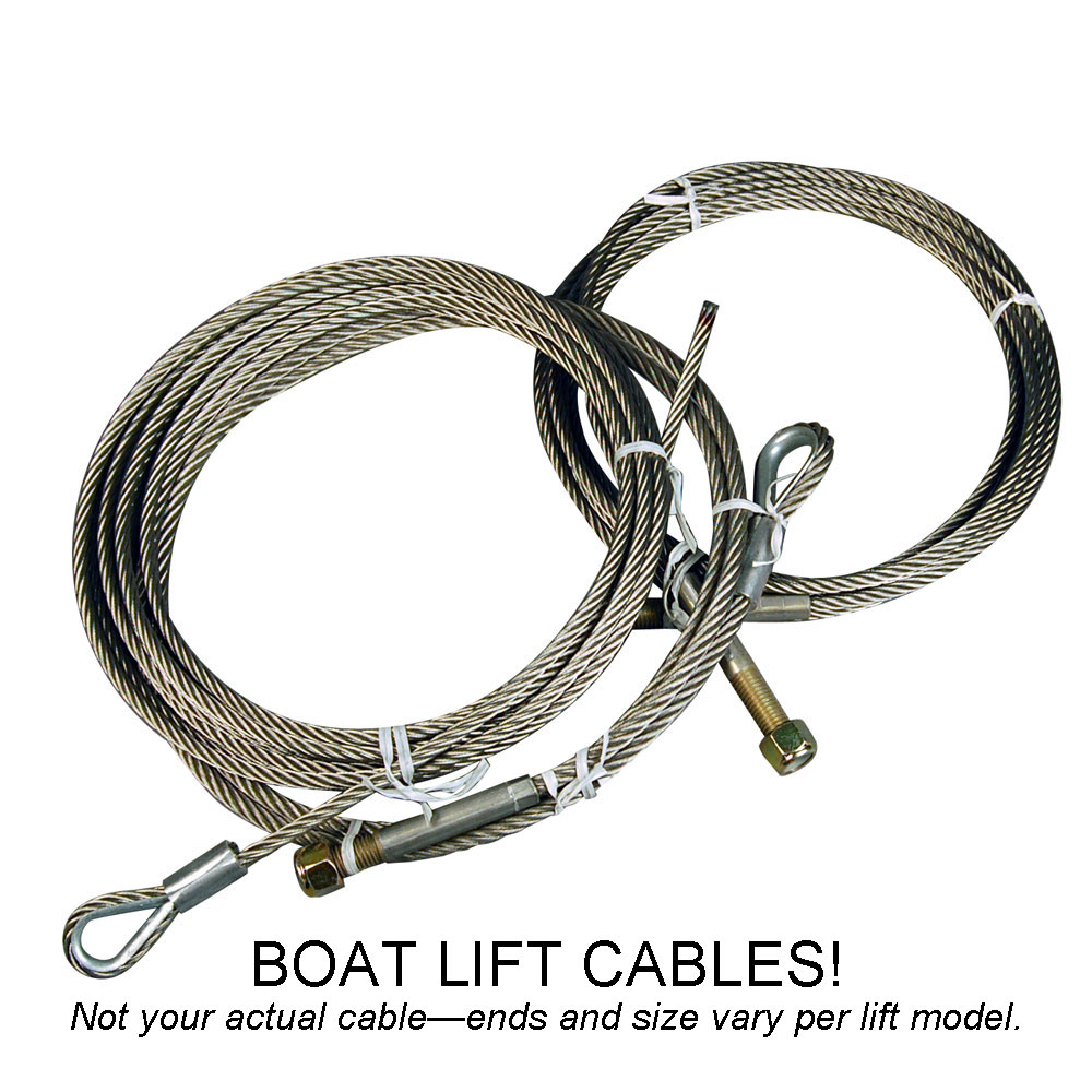 "Cable for Aquamatic Boat Lift 182-1/2"" OAL, Galvanized"