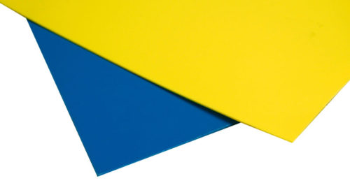 "HDPE sheets 48"" x 96"", Yellow"