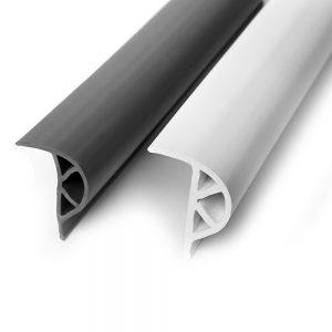 4044-004-W Medium White P Shape Vinyl Dock Edging
