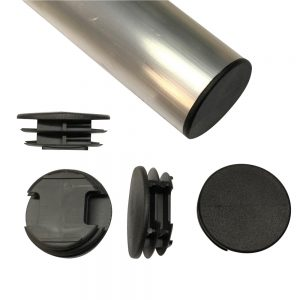"4043-025 2"" Round Dock Pole Post Caps Black"